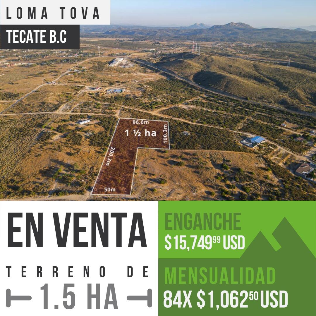 Terreno en venta de 1½ en Loma Tova, Tecate B.C0