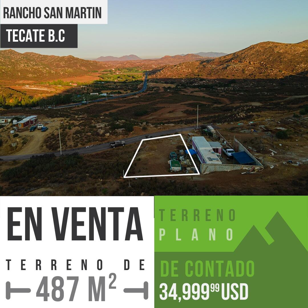 Venta de terreno de 487 m² por Rancho Tecate en Tecate,B.C0