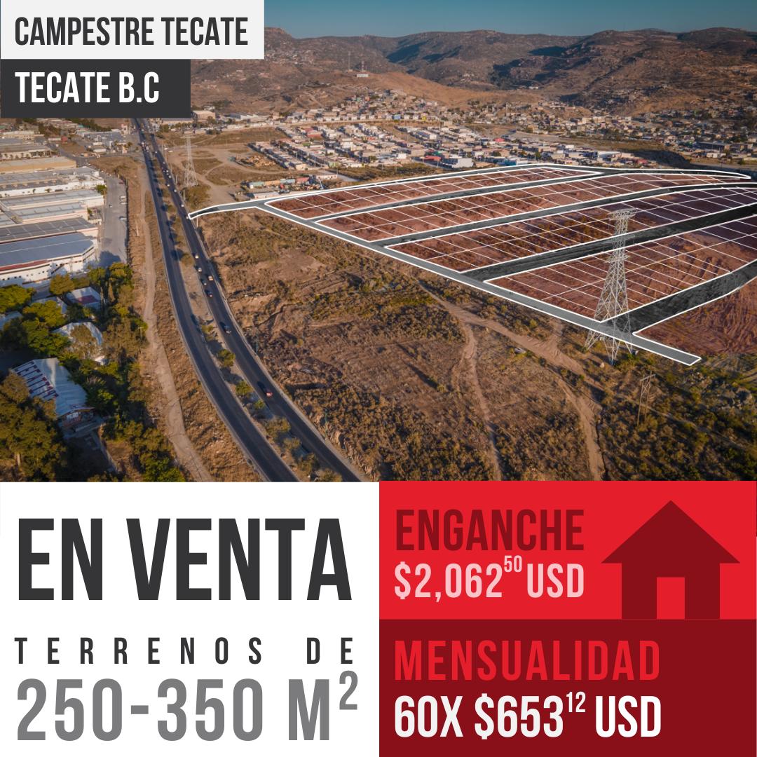 Venta de terrenos de 250 m² en Campestre Tecate, Tecate B.C0