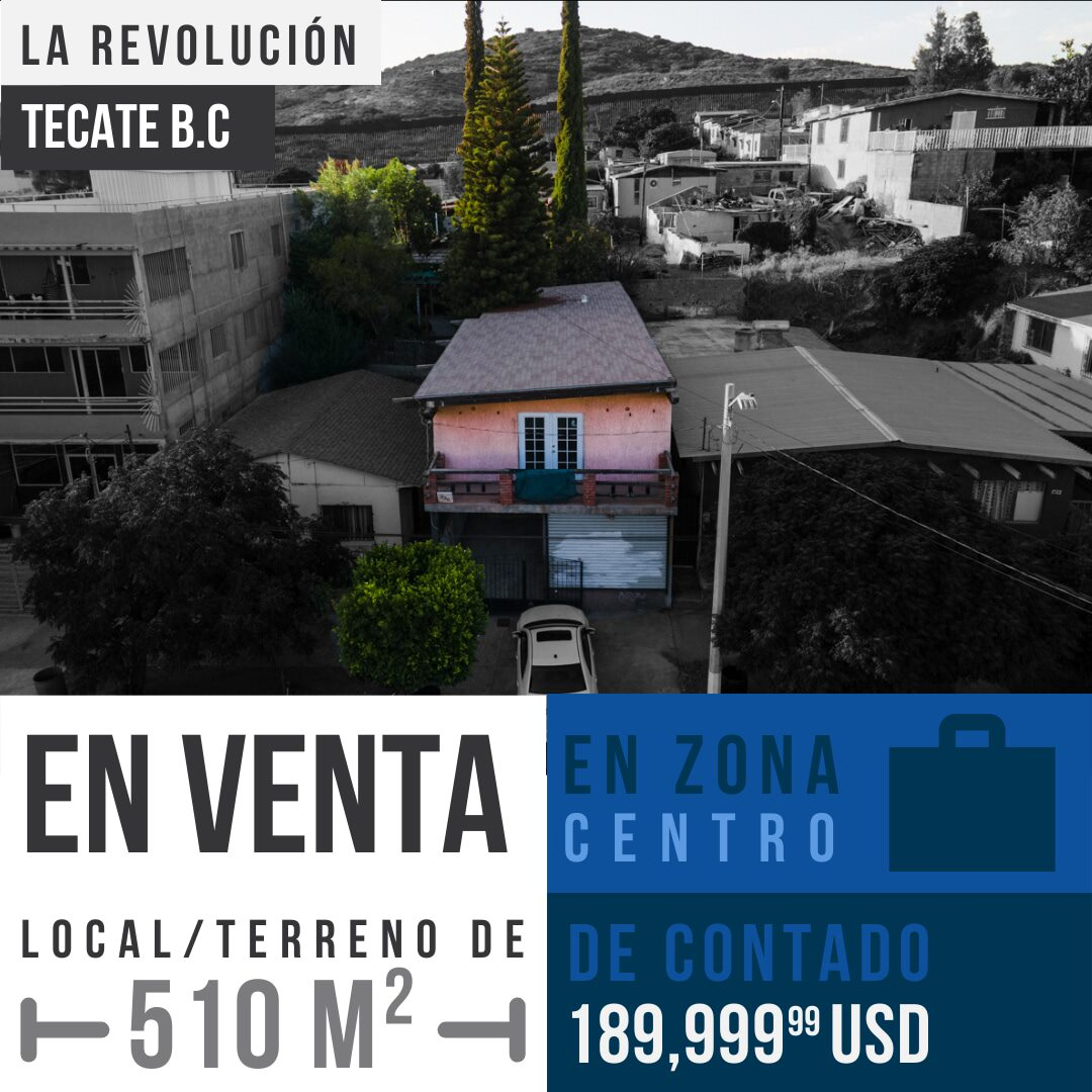Terreno en venta de 510 m² en La Revolucion, Tecate B.C0