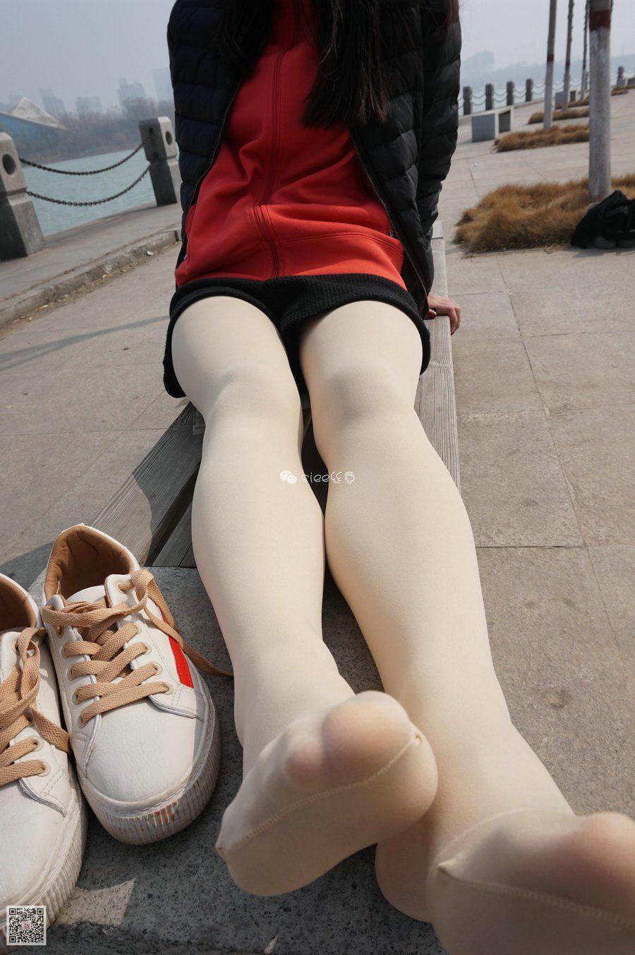 [SIEE丝意] No.062 琦琦 肉丝白鞋最配[78P/115M]