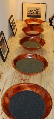 tabeau de sables naturels, artisanat de l'île de la Réunion